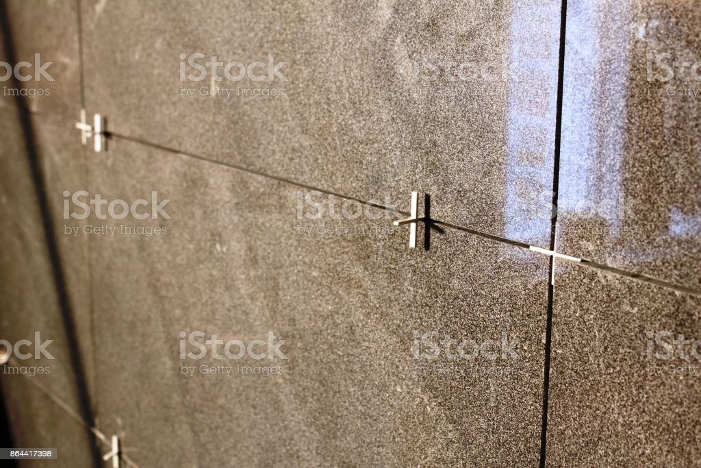 Tiling Spacer stock photo