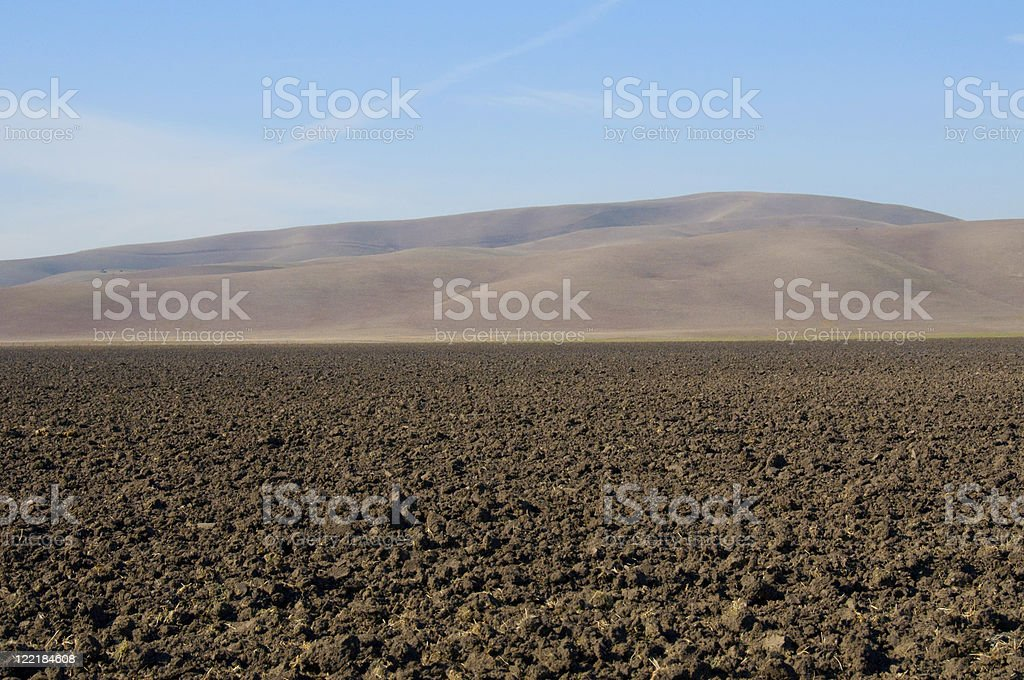 Tilled Land in the Country stock photo