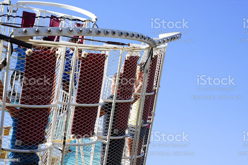Tilt a Whirl Carnival Ride stock photo