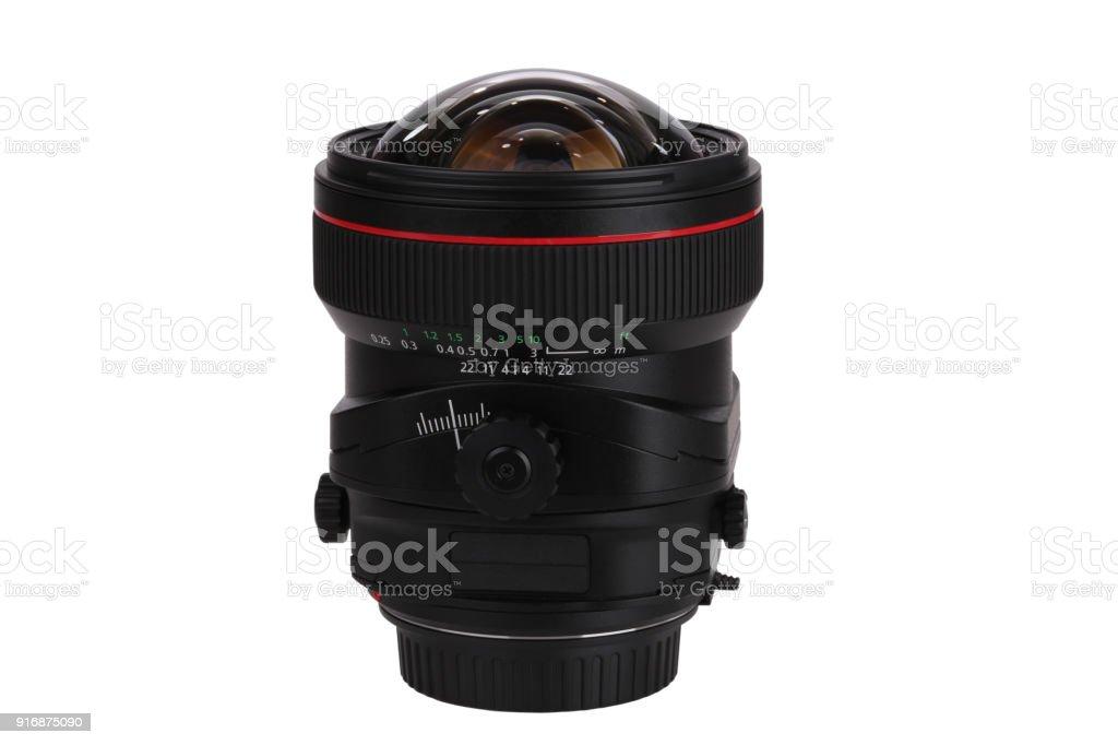 Tilt and shift lens stock photo