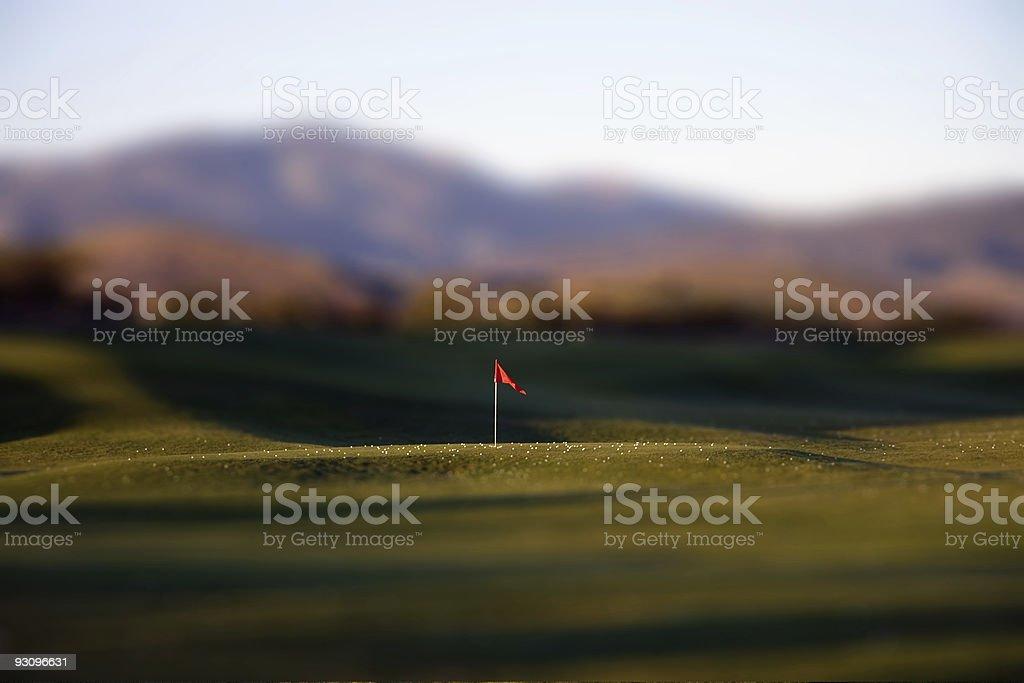 Tilt Shift Golf Practice Range stock photo