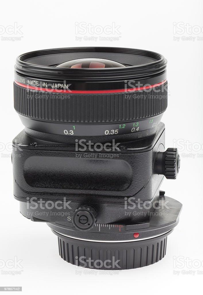 Tilt shift lens stock photo