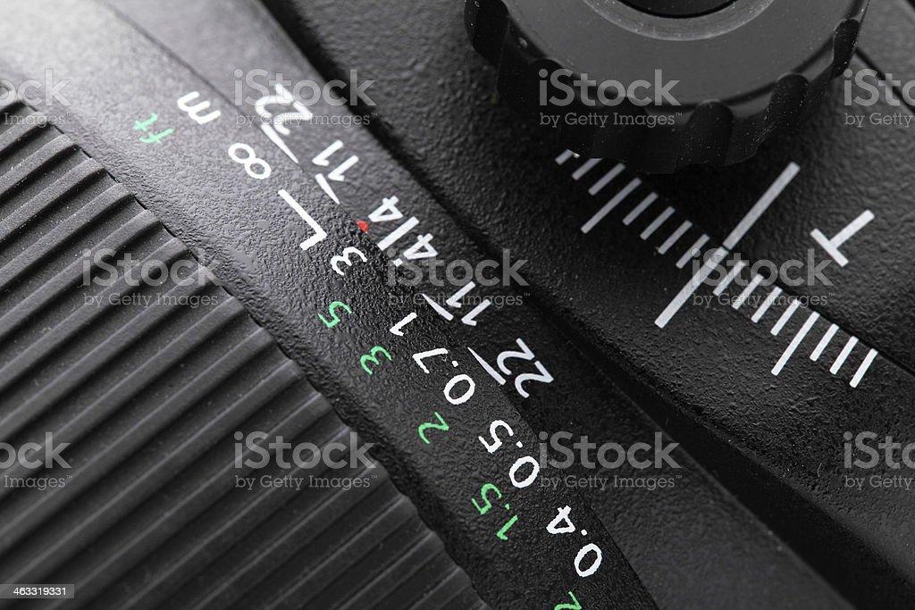 Tilt shift lense close up stock photo