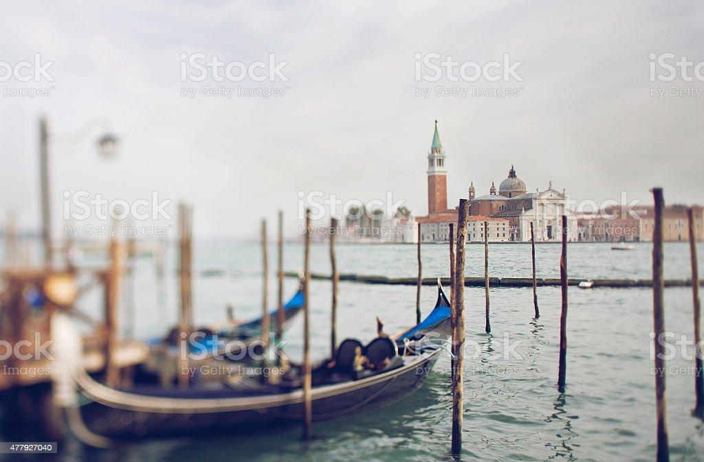 Tilt shift photo of view of Santa Maria Maggiore stock photo