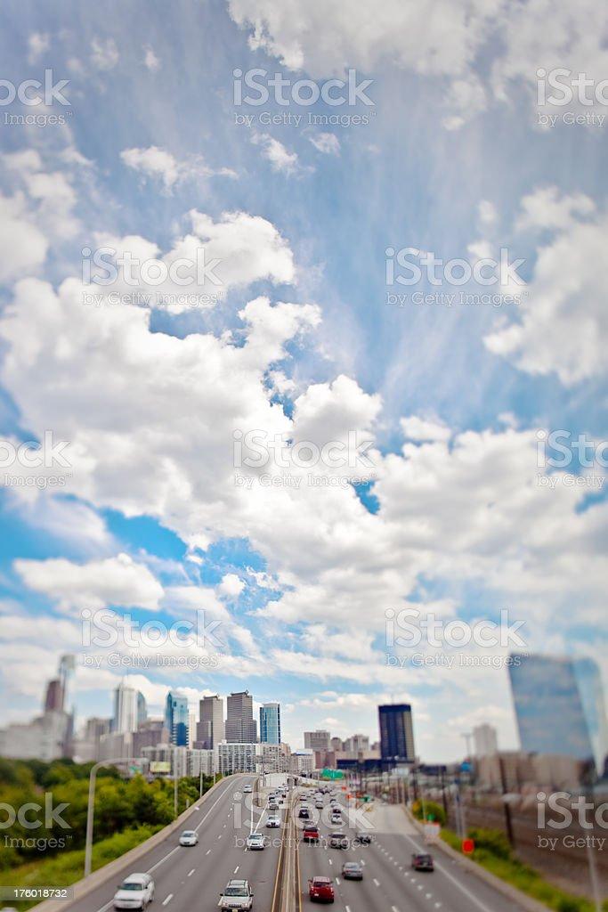Tilt Shift Skyline royalty-free stock photo