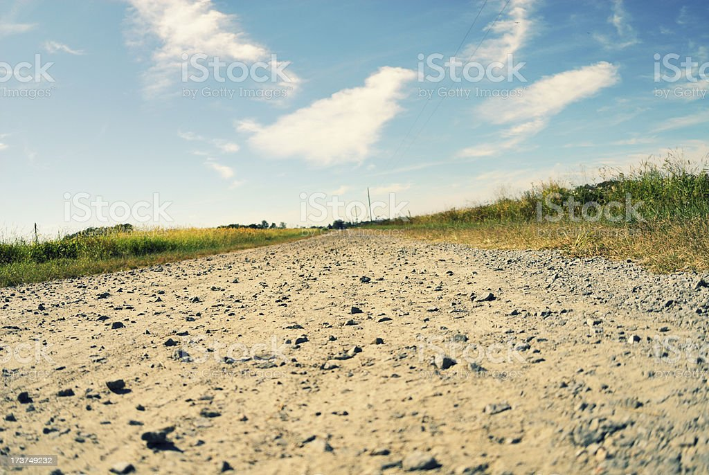 Tilted Farm Road royalty-free stock photo