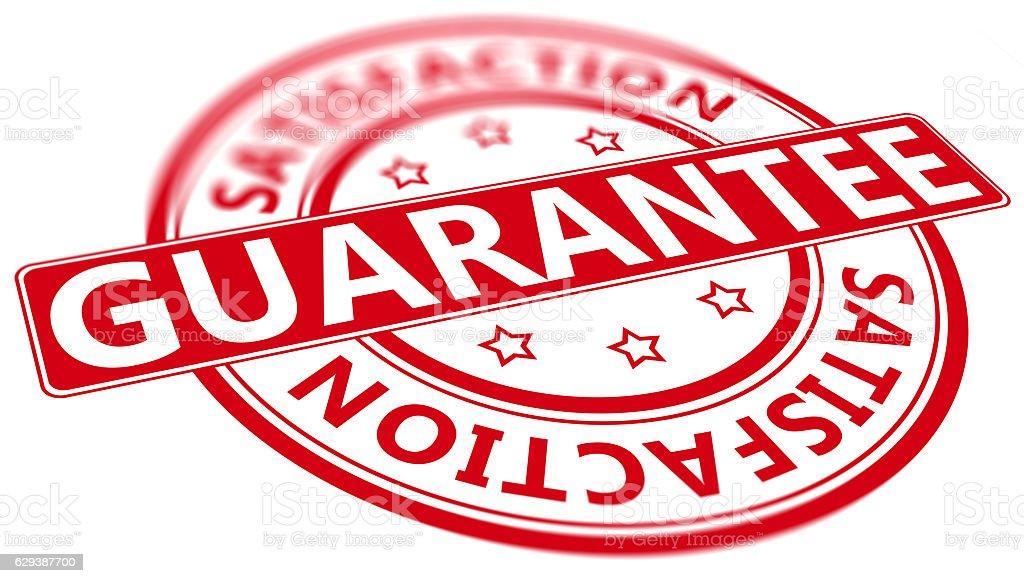 Tilted Guarantee satisfaction stamp stock photo