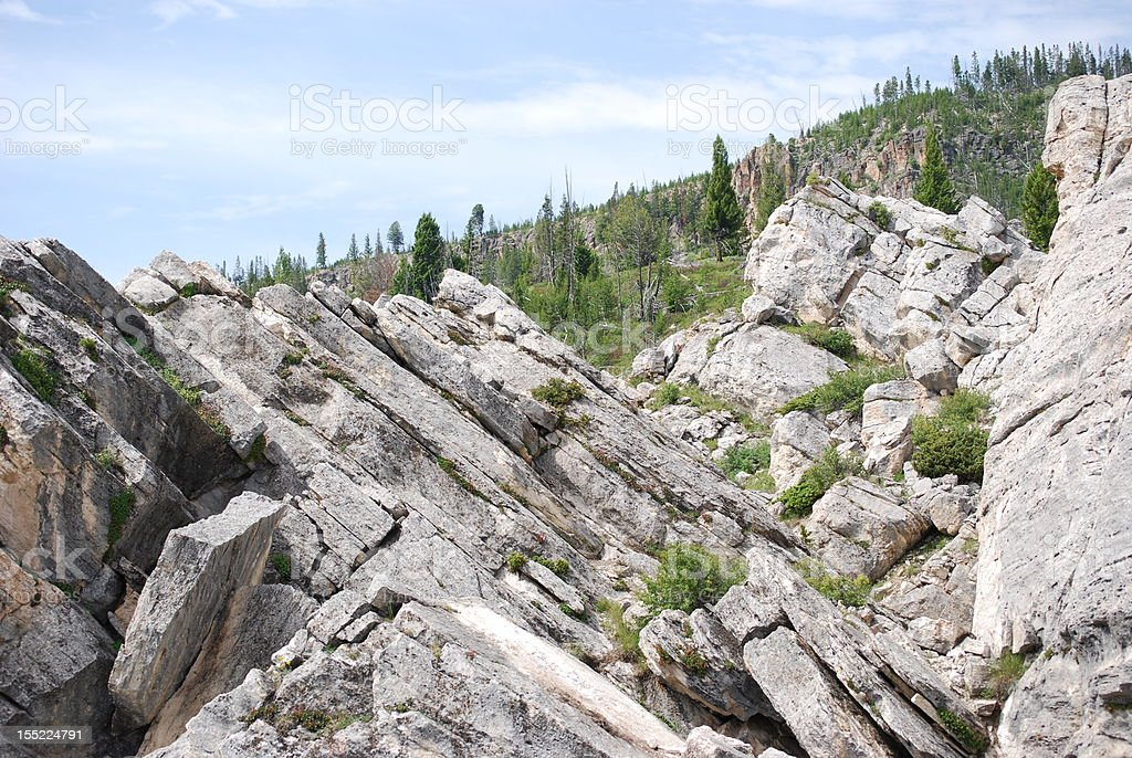 Tilted Rock Formations royalty-free stock photo