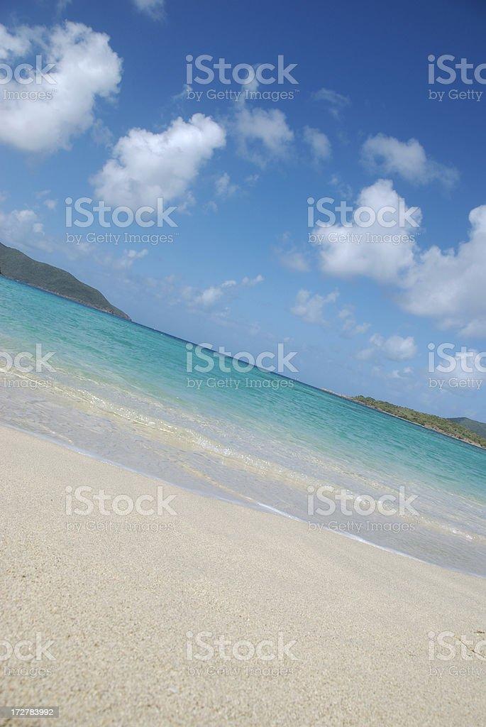 Tilted Tropical Beach stock photo