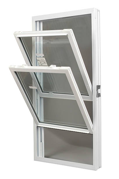 tilt-in replacement window - symmetry stock photos and pictures
