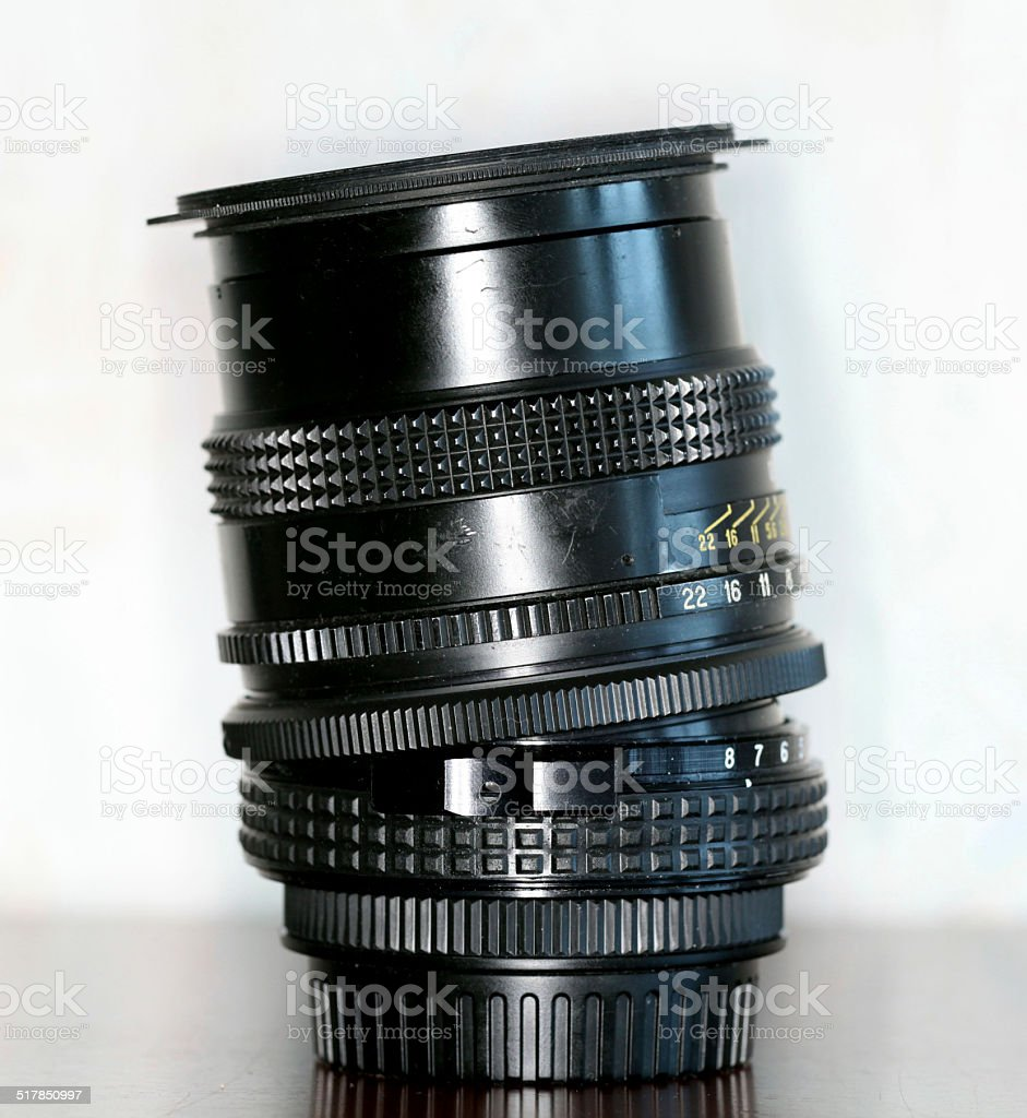 tilt-shift lens stock photo