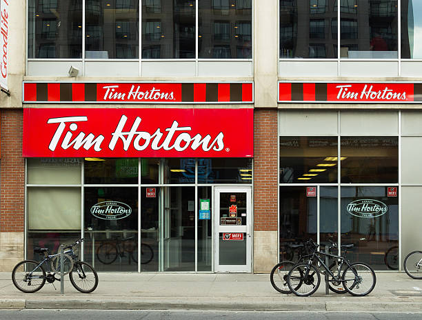 Tim Hortons Coffee Shop stock photo