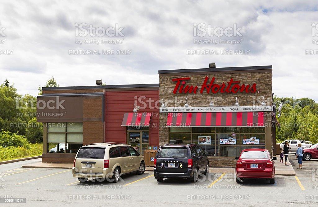 Tim Hortons Sign stock photo