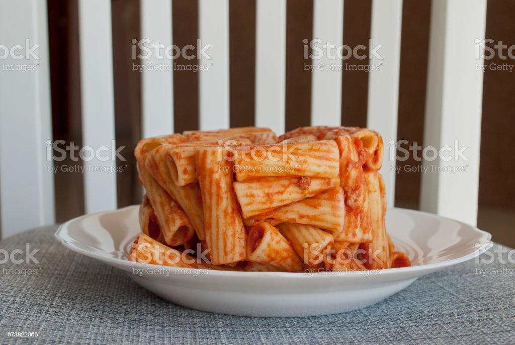 Timbale of macaroni royalty-free stock photo