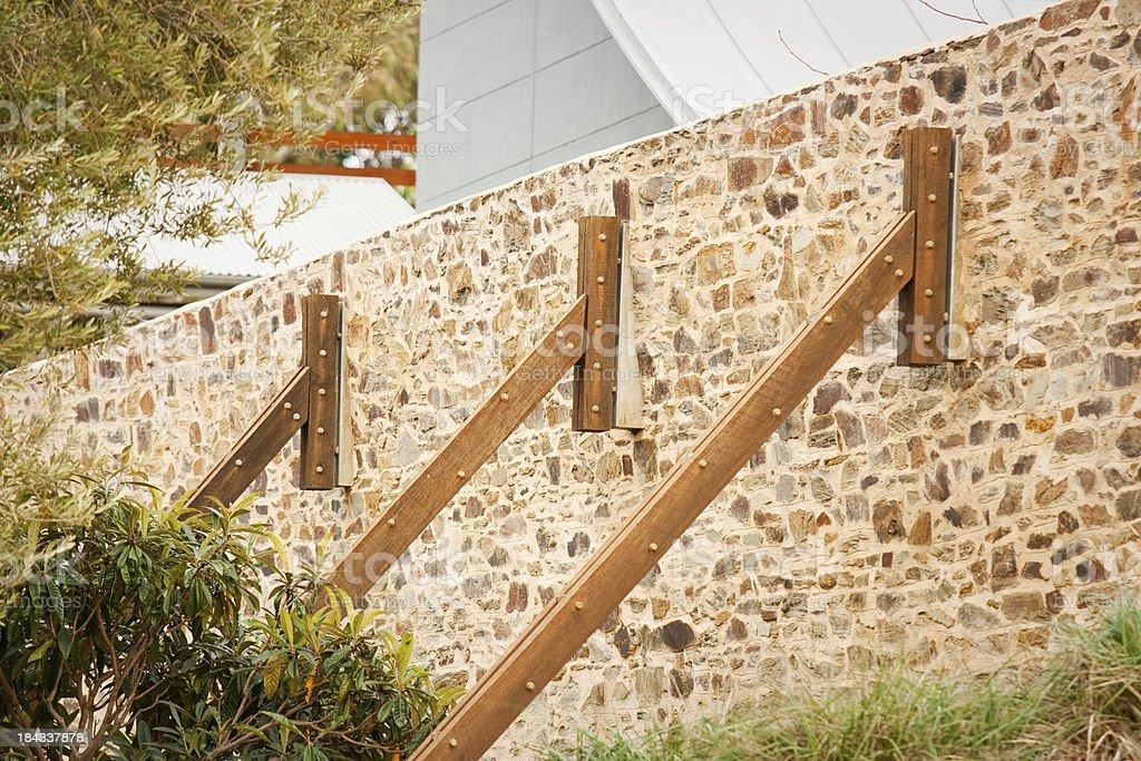Timber Butress stock photo