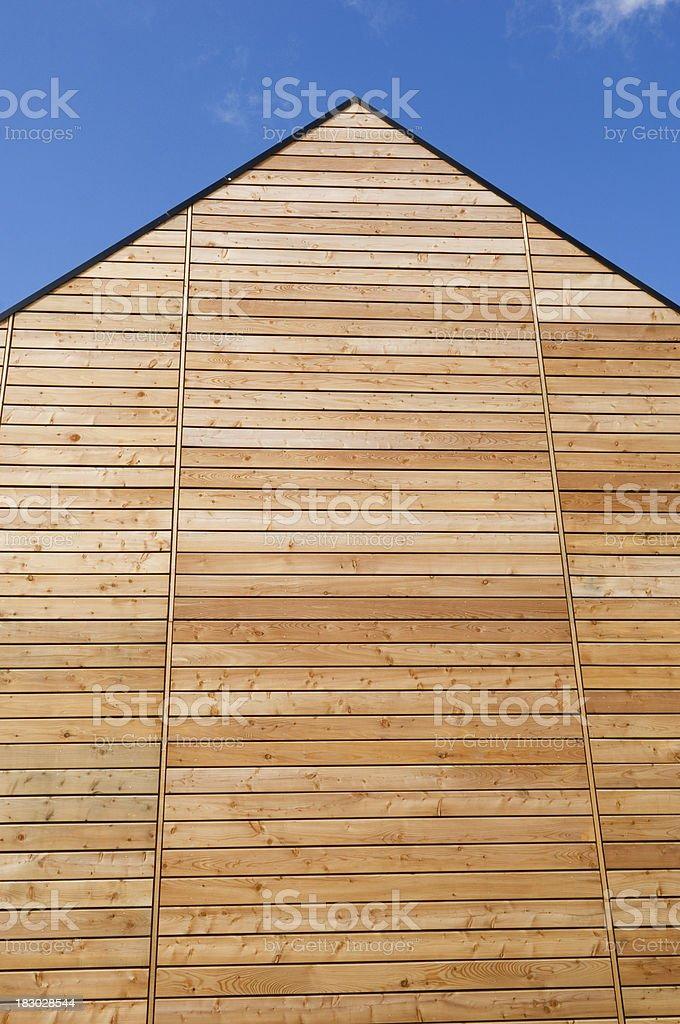Timber cladding stock photo