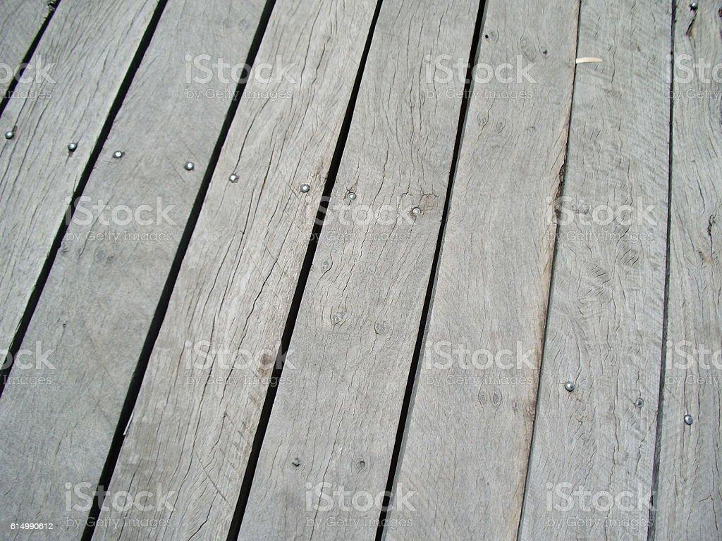 Timber decking stock photo