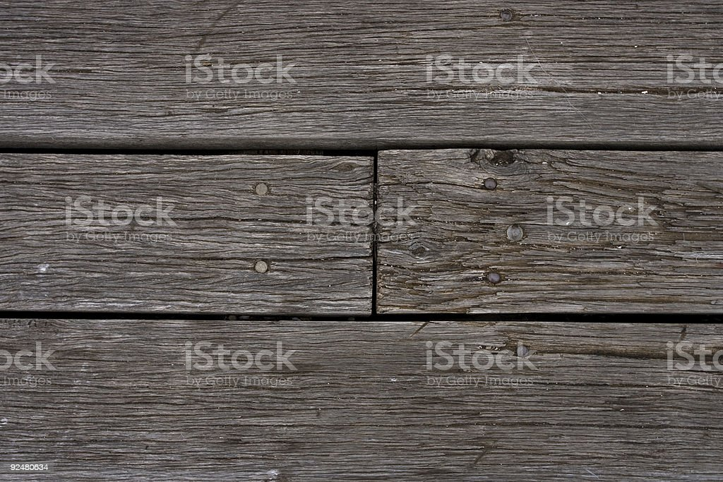 Timber dock floor royalty-free stock photo
