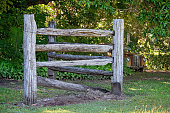 istock Timber Fence Rusted Vintage Car 1163299627