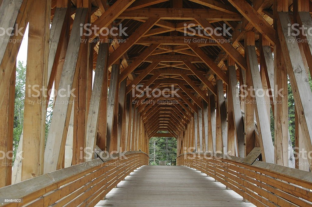 Timber Frame Bridge royalty-free stock photo