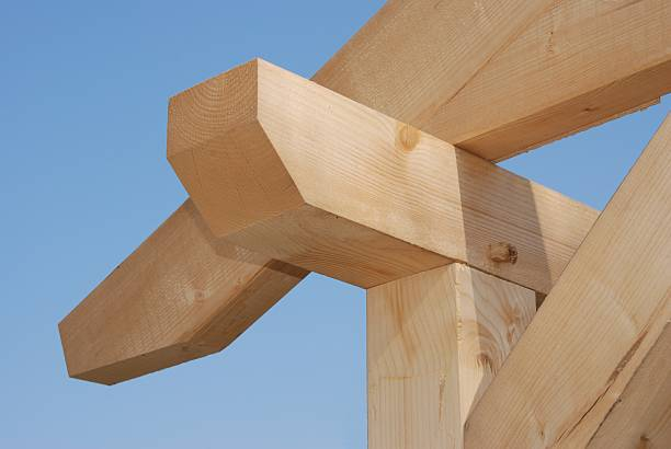 Timber frame construction for a house Timber-frame construction half timbered stock pictures, royalty-free photos & images