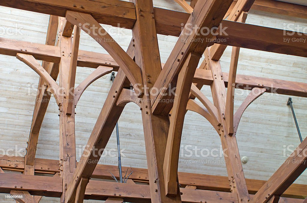Timber Frame Construction stock photo