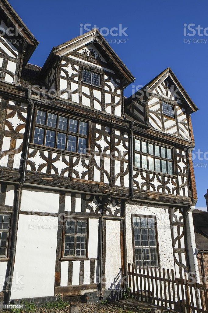 Timber framed building in Bridgnorth, Shropshire, United Kingdom royalty-free stock photo