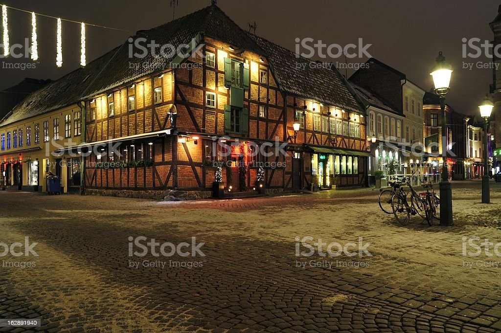 Timber framed building, Malmo, Sweden royalty-free stock photo