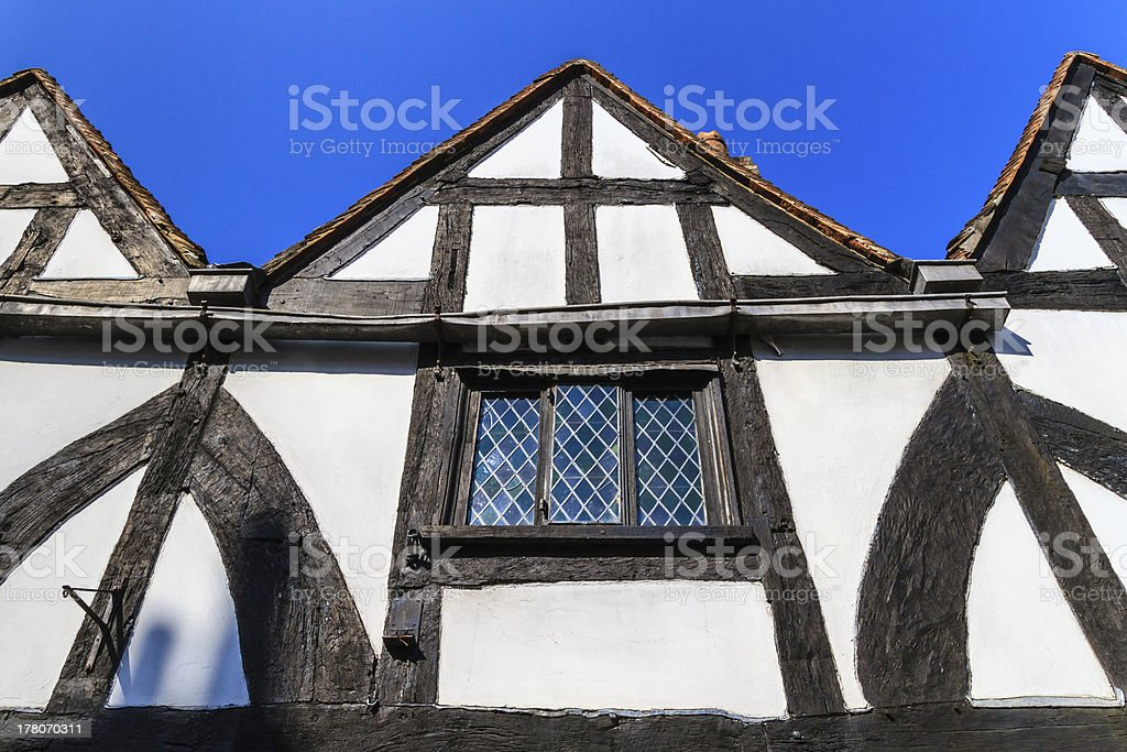 Timber framed house facade stock photo