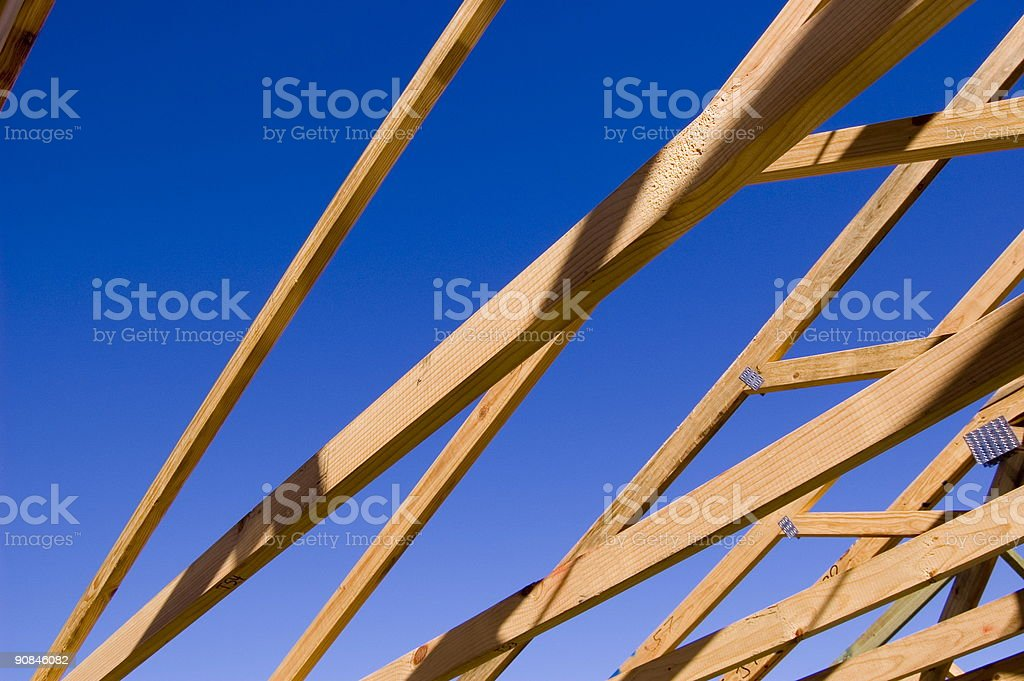 Timber Housing Frame stock photo