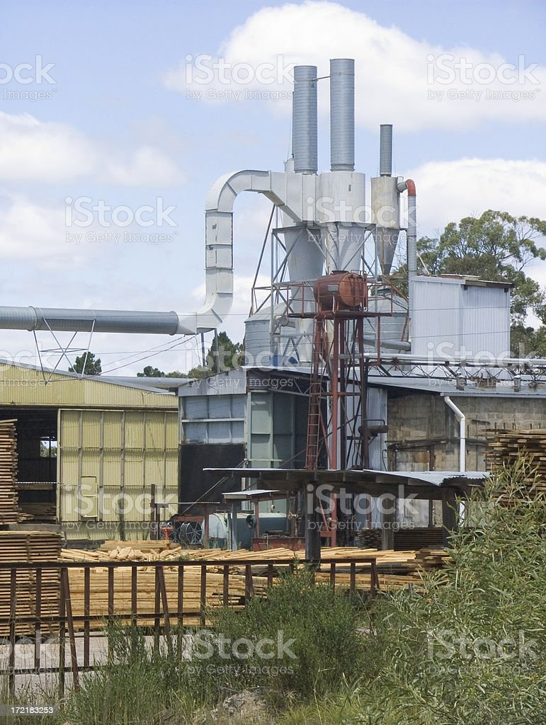 timber mill royalty-free stock photo