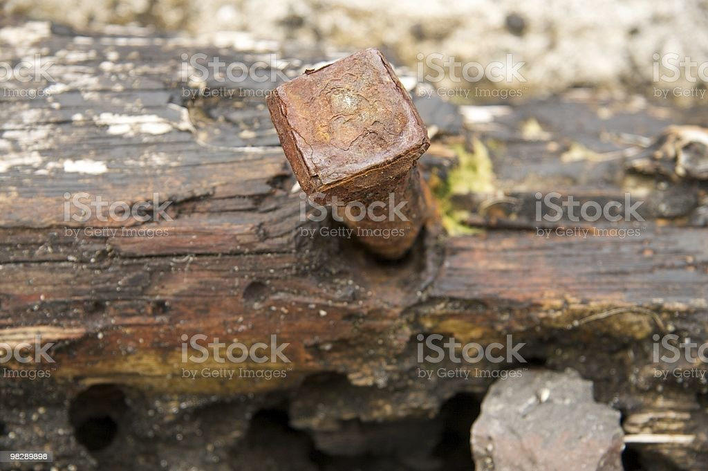Timber on the quay royalty-free stock photo