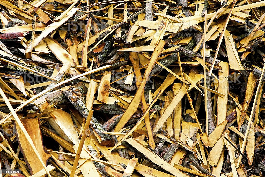 Timber recycling stock photo