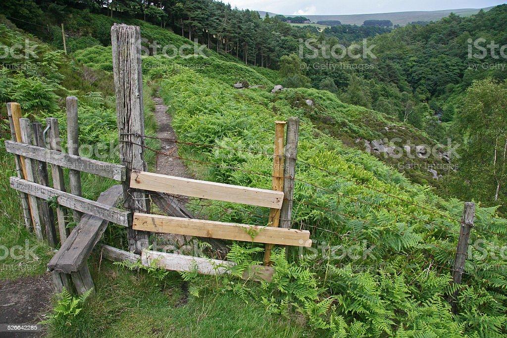 Timber Stile stock photo