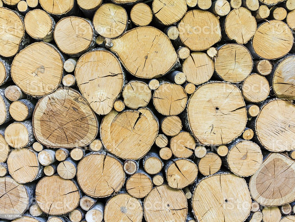Timber woodpile royalty-free stock photo