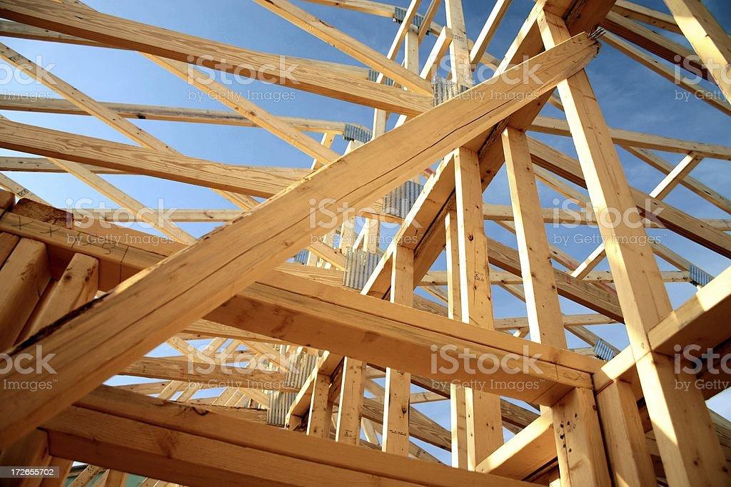 Timber work stock photo