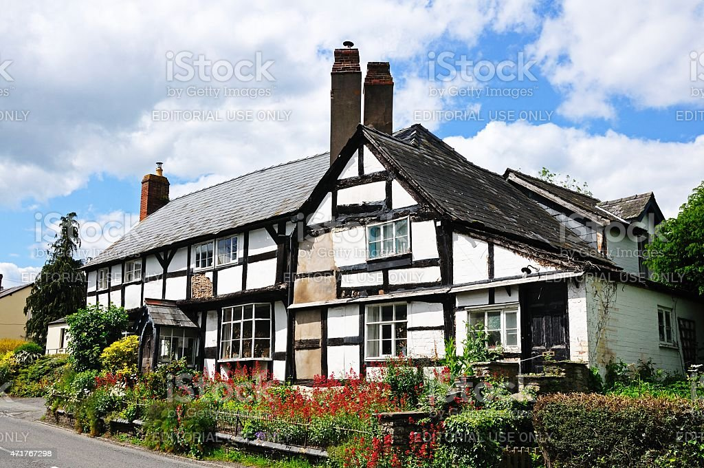 Timbered buildings, Pembridge. stock photo
