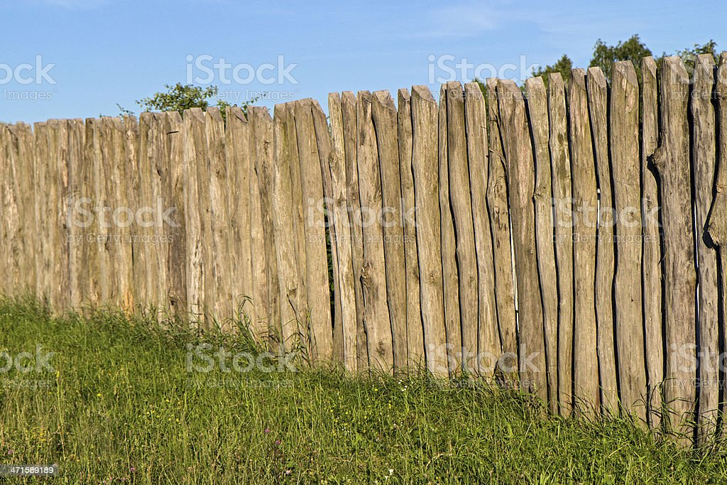Timbered fence royalty-free stock photo