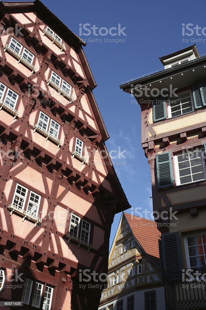 timber-framed houses royalty-free stock photo