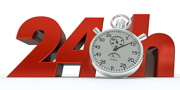 Time 24 Hours stock photo
