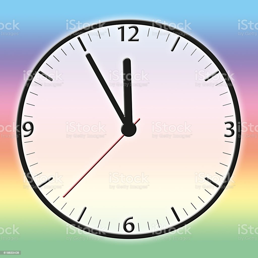 Time - 5 to 12 stock photo