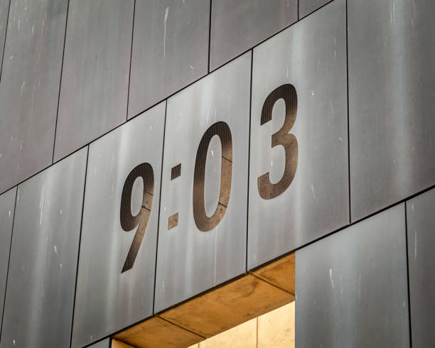 Time after Oklahoma City federal building bombing stock photo