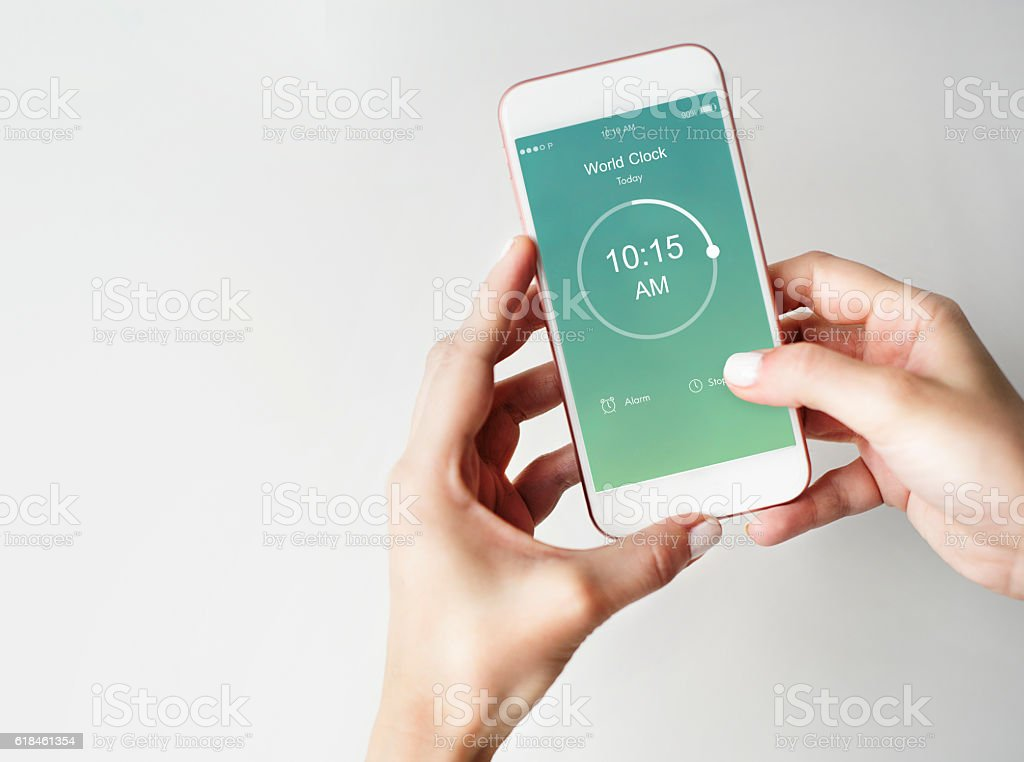 Time Alarm Stopwatch Clock Concept stock photo