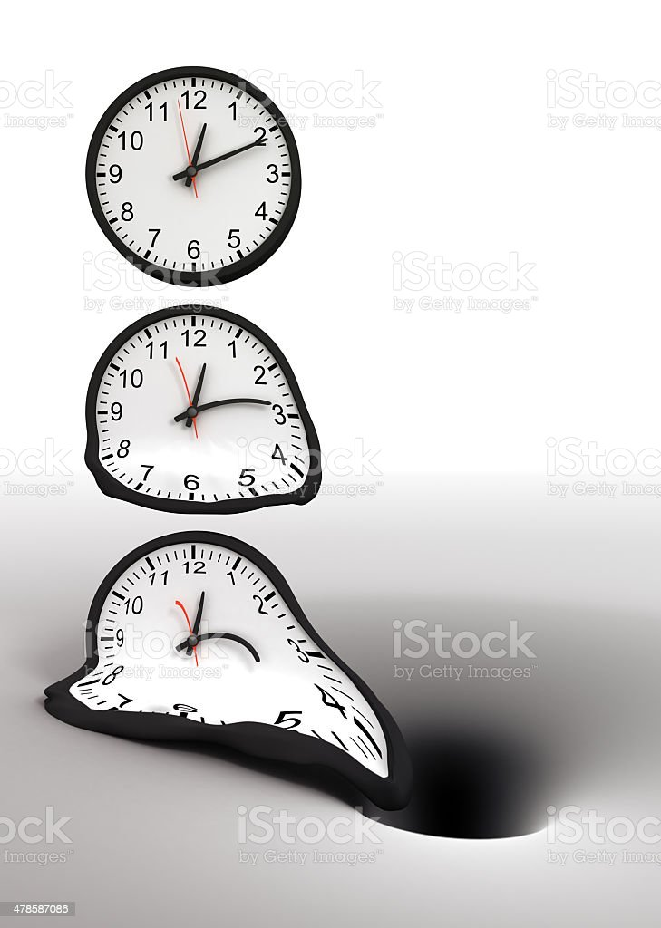 Time and black hole stock photo