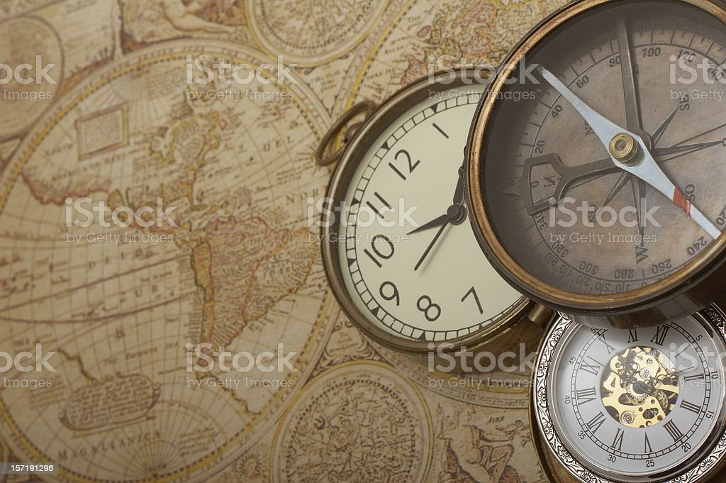 Time and direction stock photo