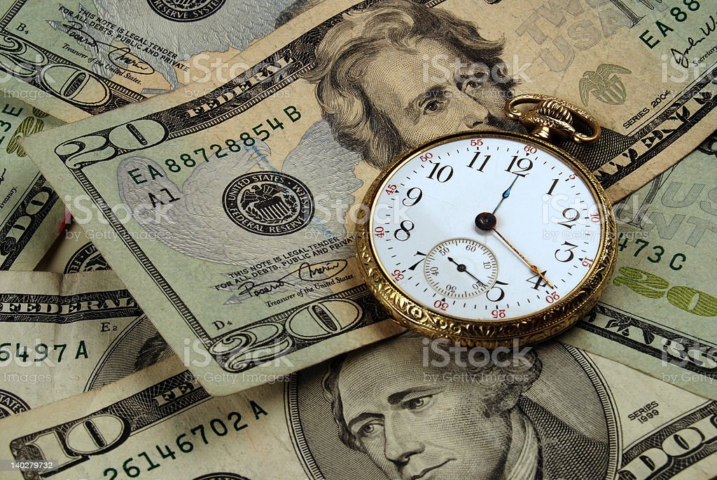 Time And Money Concept Image royalty-free stock photo