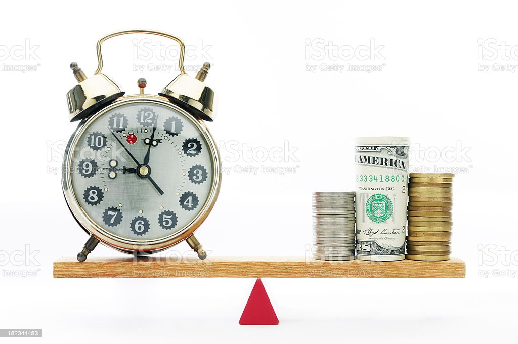 Time And Money royalty-free stock photo