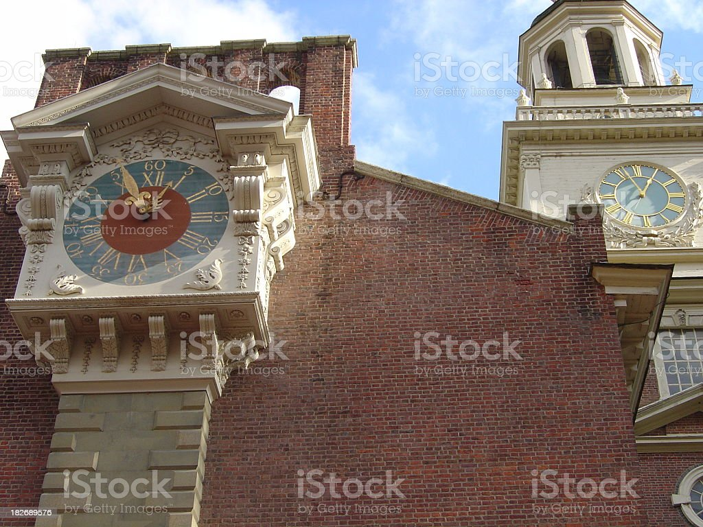 Time at Independence Hall stock photo