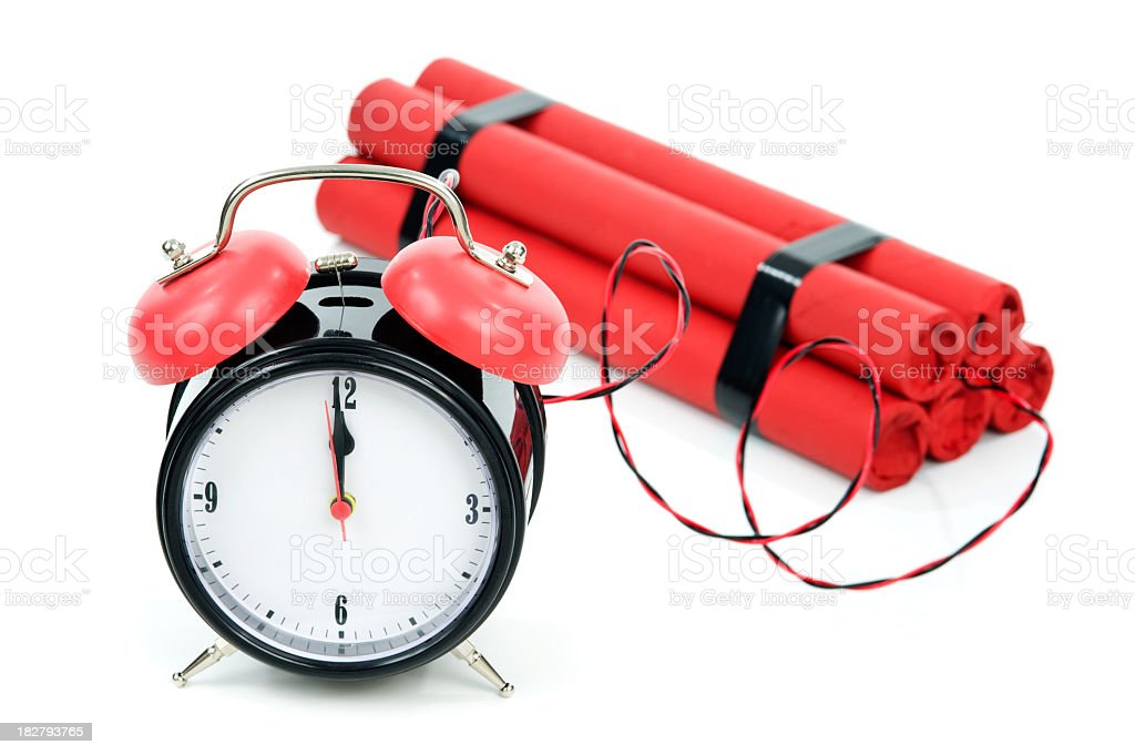Time Bomb- Dynamite royalty-free stock photo