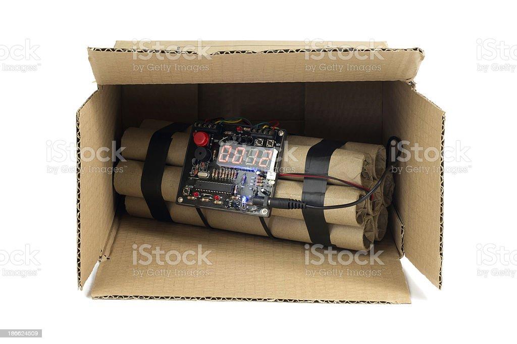 Bomba na caixa - foto de acervo